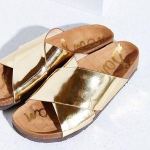 Sam Edelman adora liquid gold cross strap …